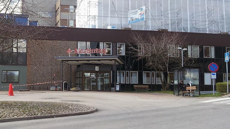 Akuten på Södra Älvsborgs Sjukhus, SÄS. Foto: P4 Sjuhärad.