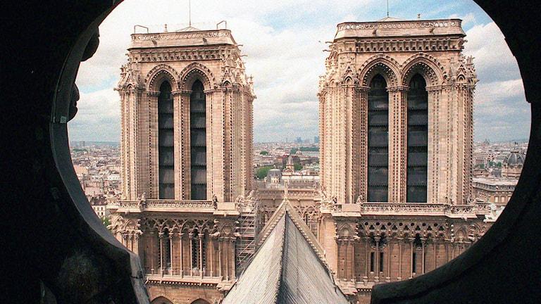 Katedralen Notre Dame i Paris. Foto: AP/Remy de la Mauviniere/TT.