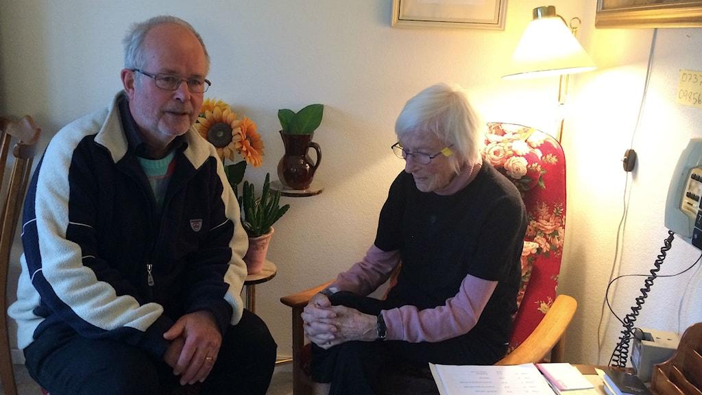 Lars Karlberg och Inga Britta Karlberg. Foto: Maria Hansson/SR