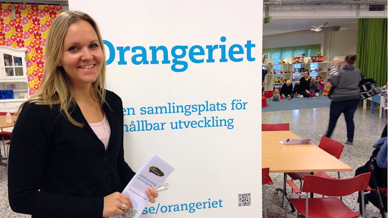 Projektledare för Orangeriet, Anastazia Kronberg. Foto: Erika Larsson/SR.