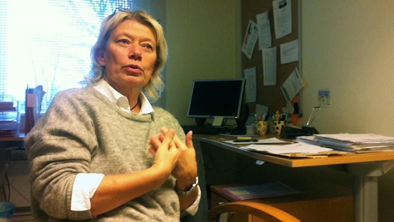 Eva-Britt Andersson, individ- och familjeomsorgschef i Svenljunga. Foto: Jenny Hellström