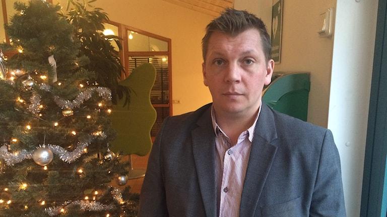 Anders Einarsson, kommunchef Bollebygd. Foto: Erika Larsson/SR.