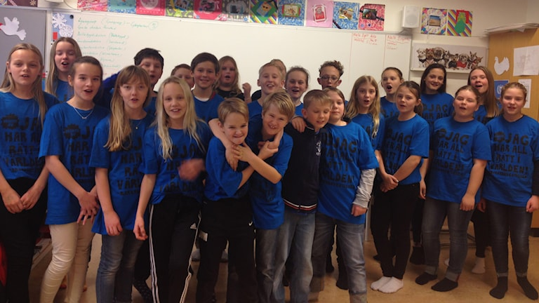 Gånghesterskolans klass 5A. Foto: Maja Jerosimic.