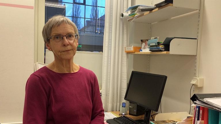 Lisbeth Karlsson, hygienläkare på SÄS. Foto: Maria Hansson/SR