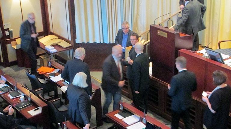 Omröstning i Borås fullmäktige. Foto: Pär Sandin.