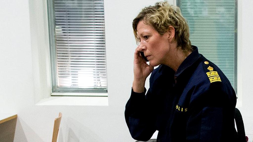 Lena Matthijs, polisområdeschef i Älvsborg. Foto: Adam Ihse/TT.
