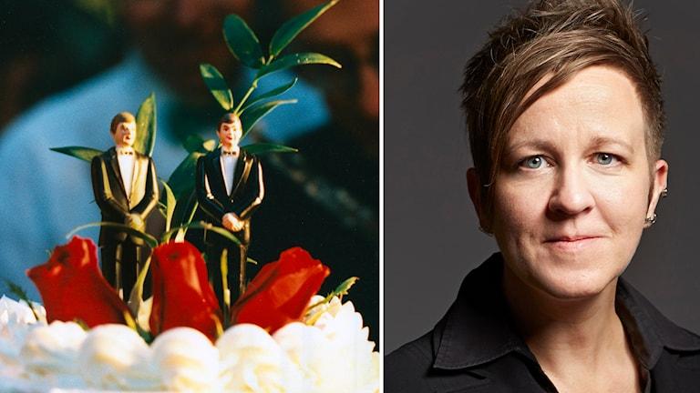 Till höger: Ulrika Wernholm, förbundsordförande för RFSL. Foto: Björn Larsson Ask / SvD och RFSL.