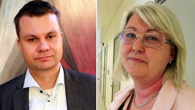 Ulf Olsson (S) och Annette Carlsson (M). Foto: P4 Sjuhärad.