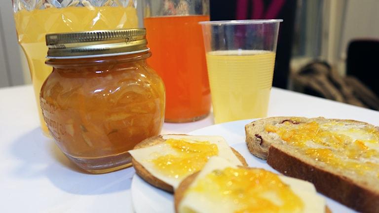 Citrusmarmelad och Apelsinsaft. Foto: Niclas Odengård.