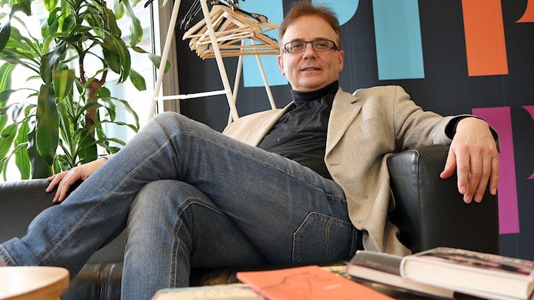 Jurymedlem: Martin Hellström, prorektor och professor i litteraturvetenskap vid Högskolan i Borås. Foto: Niclas Odengård.