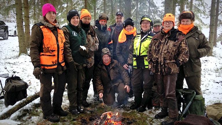 Jägareförbundets kvinnliga nätverk JAQT ordnade rådjursjakt på Rådde i Länghem.