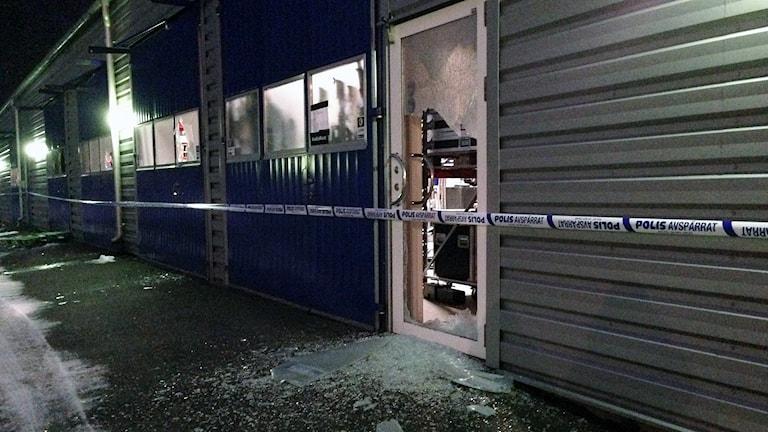 Inbrott på Service Team i Borås. Foto: Madeleine Korneliusson/SR.