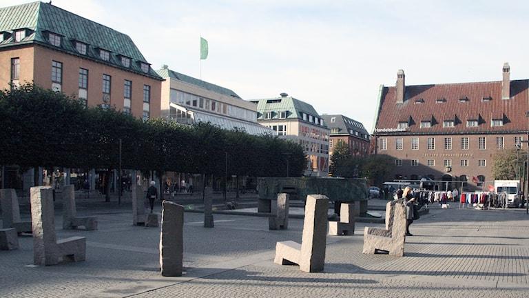 Stora Torget i Borås. Foto: P4 Sjuhärad.