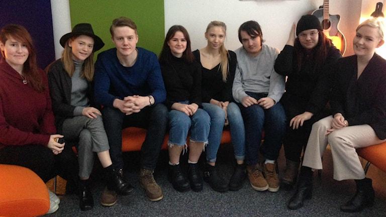Nadja Johansson, Linnea Svensson, Love Ljungström, Lovisa Nolander, Lovisa Bergman, Adam Löberg, Amanda Norberg, Evelina Ingvarsson Foto: Magdalena Brander