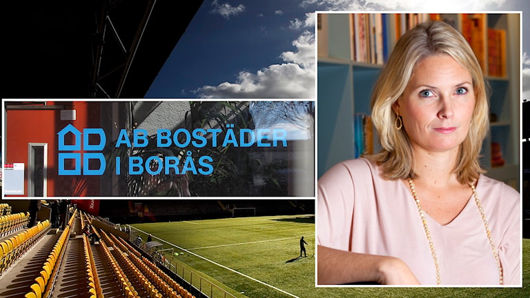 Helena Sundén, generaldirektör för Institutet mot mutor, är tveksam över AB Bostäders agerande runt sponsring till Elfsborg. Foto: P4 Sjuhärad/Institutet mot mutor.