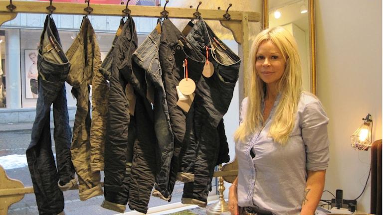 Michaela Castellari öppnar butik i Borås centrum för tredje gången. Foto: Melissa Gustafsson/Sveriges Radio