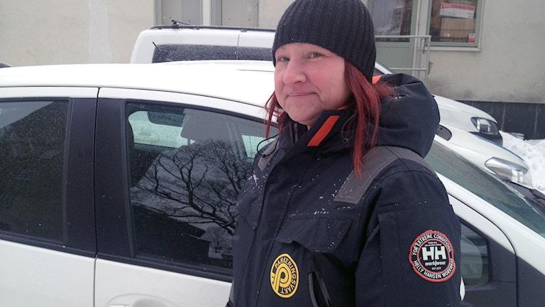 Susanne Vesanen, parkeringsvakt i Borås. Foto: Markus Alfredsson.