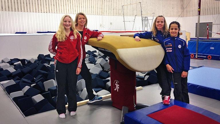 Helena Hernelind, Malin Nyström, Lina Karlsson  och Emma Jelic. Foto: Madeleine Korneliusson/SR.