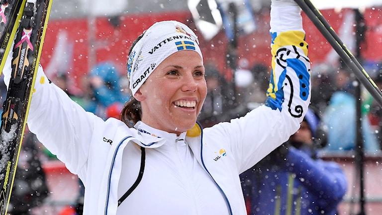 Charlotte Kalla. Foto: Anders Wiklund / TT.