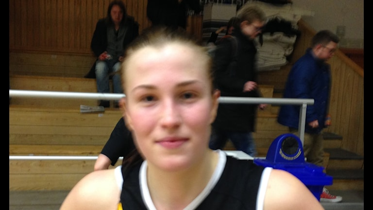 En nöjd Anna Stoltz efter matchen. Foto: Staffan Kulneff