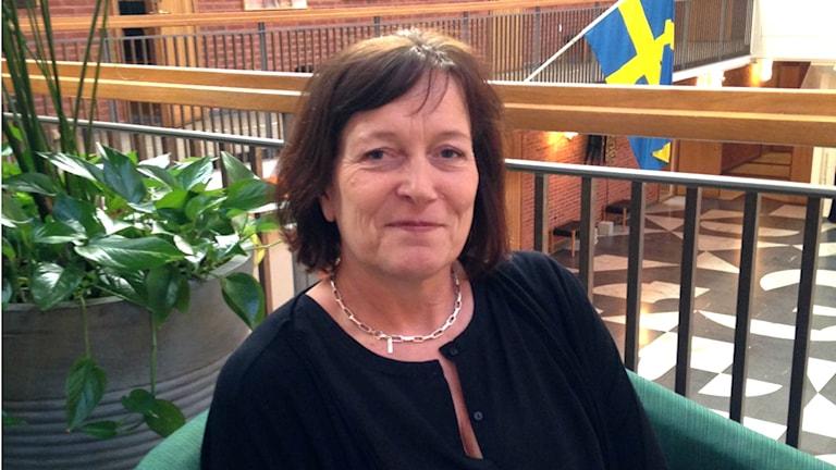 Kommunalråd Lena Palmén (S). Foto: Melissa Gustafsson/Sveriges Radio.