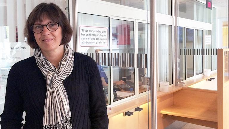 Monica Hjelmgren, verksamhetschef på akutkliniken på SÄS i Borås. Foto: Melissa Gustafsson.