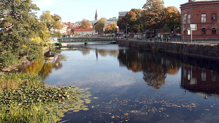 Viskan, mot Södra torget i Borås. Foto: Ida Wendle/SR