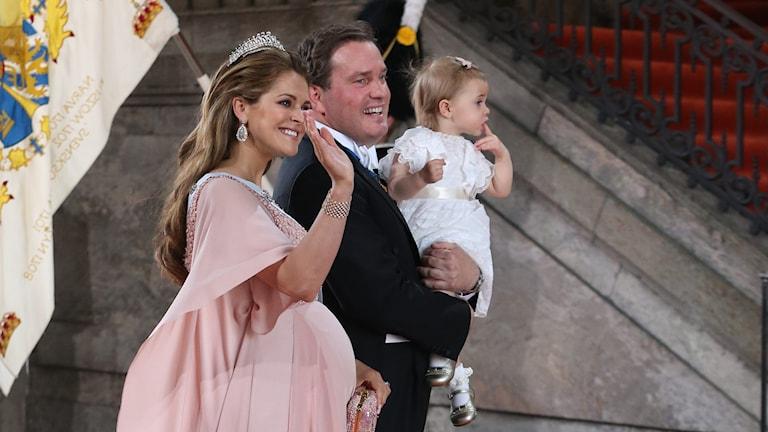 Prinsessan Madeleine med maken Chris O´Neill. Foto: Sören Andersson / TT.