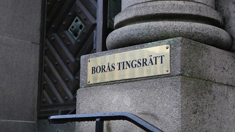 Skylt på Borås tingsrätt