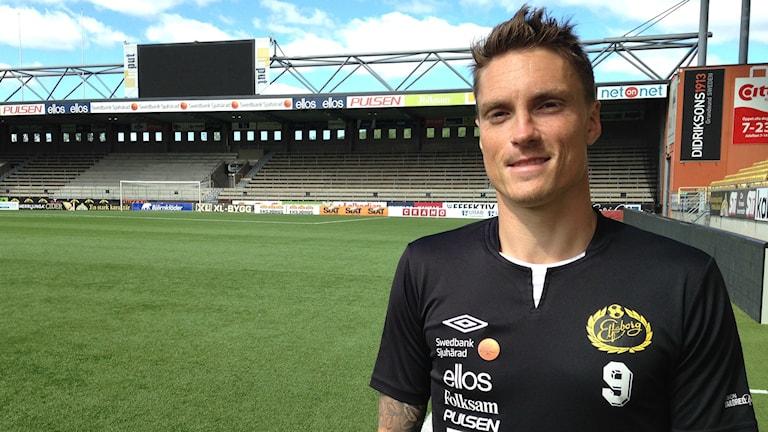 Lasse Nilsson på Borås Arena. Foto: Anton Svensson/SR