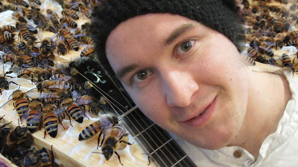 Mathias Melo och bin.