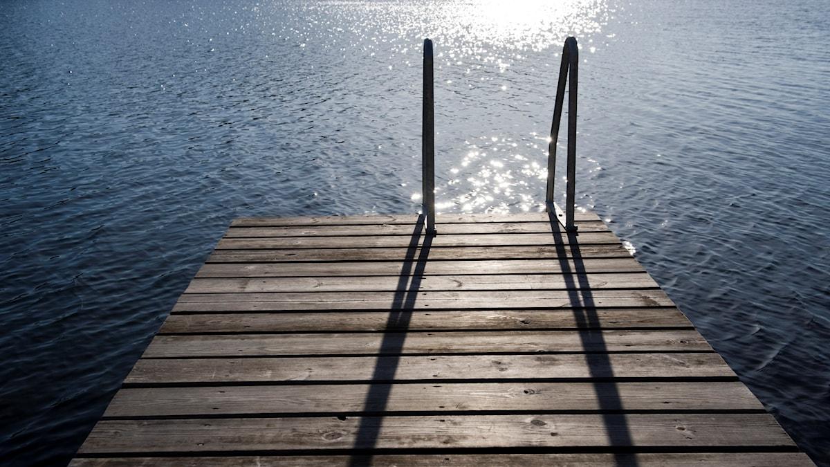 Brygga och vatten. Foto: Henrik Montgomery/TT