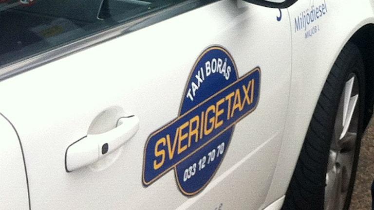 Taxi borås.  Foto: Jenny Hellström/Sveriges radio