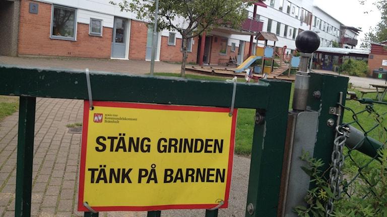 Förskolan Silviagården är nu tom Foto: Markus Alfredsson