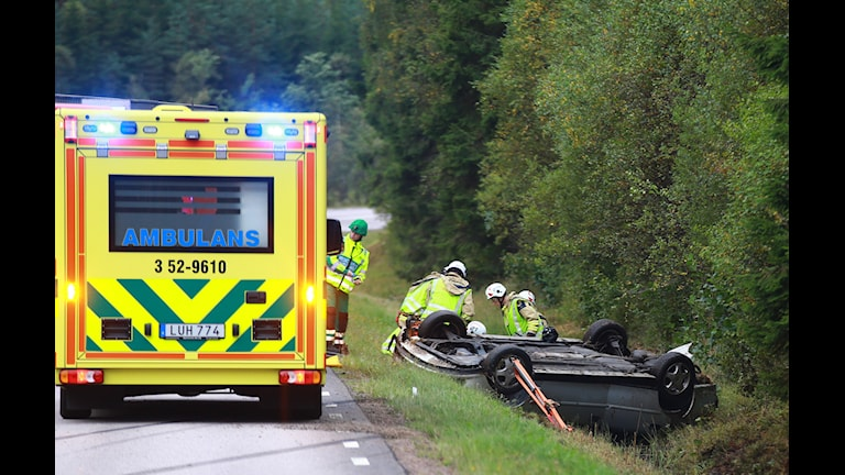 Olycka utanför Dannike. Foto Henrik Åslund/HS-foto