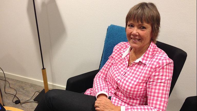 Britt-Marie Bentley, utvecklingsledare och specialpedagog, Borås stad. Foto: Magdalena Brander/SR