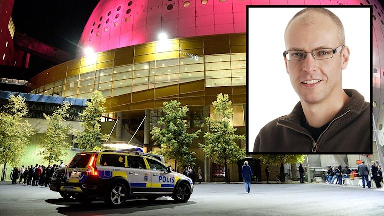 Globen, U2 och Mattias Johansson. Foto: P4 Sjuhärad/TT