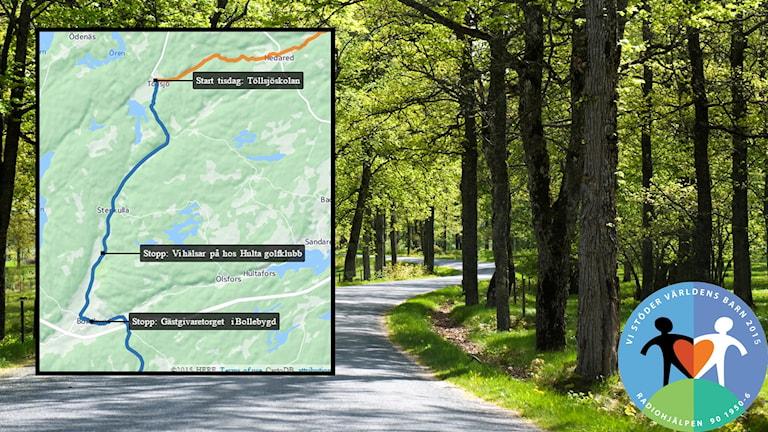 Töllsjö till Skene - etapp 2 av #p4cyklar.