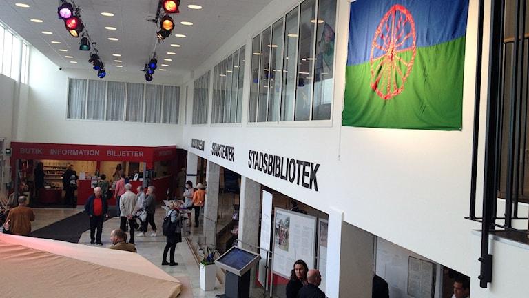Utställningen Vi är romer  - människorna bakom myten. Foto: Maja Jerosimic / Sveriges radio.