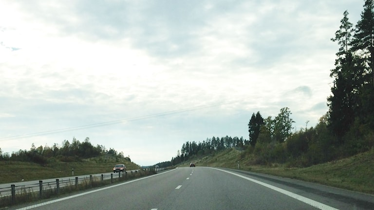 Riksväg 40 mot Borås. Foto: Sofia Kristiansen/SR