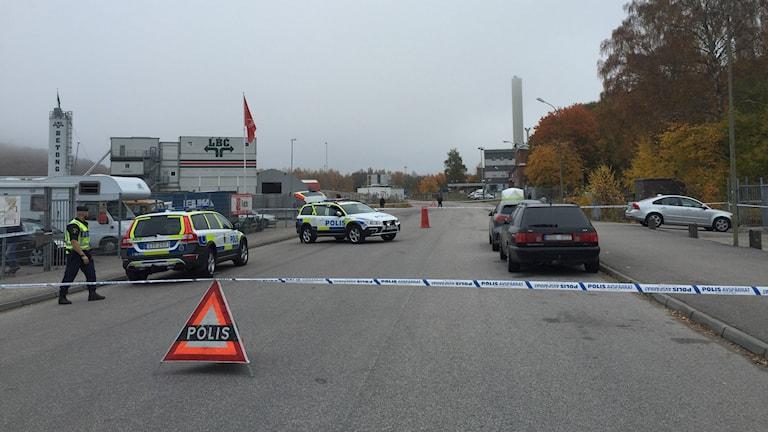 Polisavspärrningar Foto: Petra Svedjevik/SR