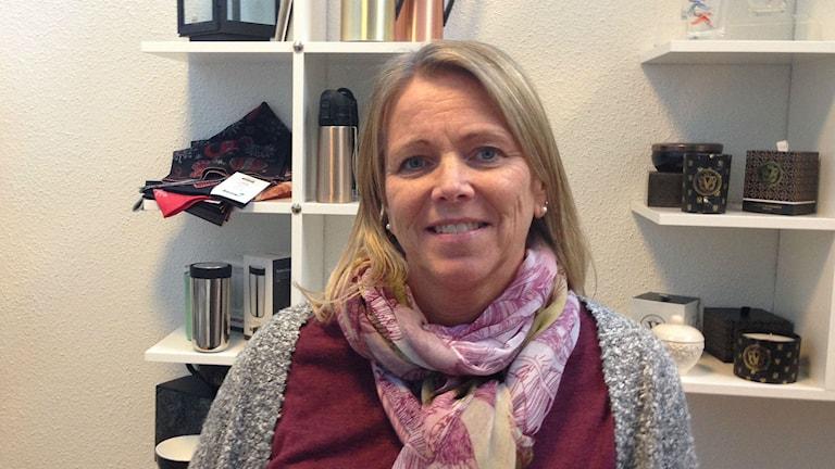 Helena Hernelind, ordförande i Borås Gymnastiksällskap. Foto: Anton Svensson/Sveriges Radio