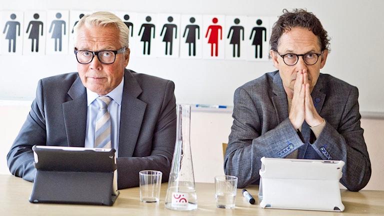 Den avvikande meningen med Jan Coster och Michael Engberg Foto: Lina Ikse/Pressbild
