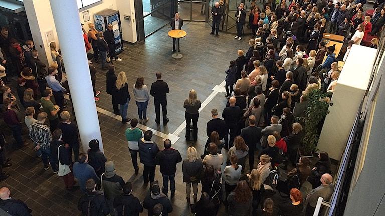 Tyst minut på Högskolan i Borås Foto: Nicola Maniette