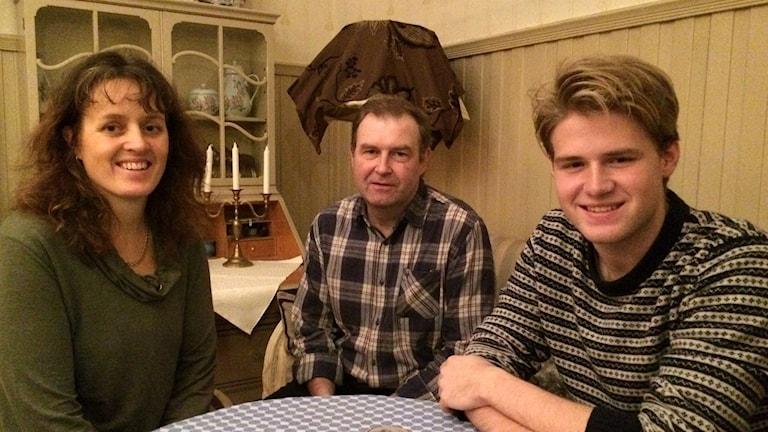 Familjen Rajala i Fritsla. Foto: Melissa Gustafsson/SR