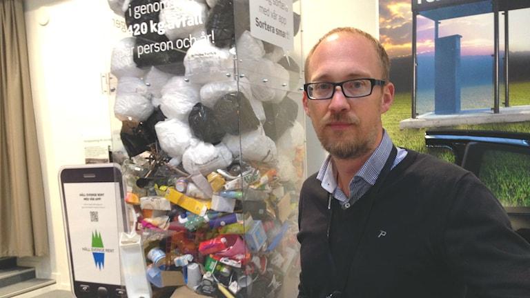 Jonas Holmberg, kommunikationschef på Borås energi och miljö. Foto: Anton Svensson/Sveriges Radio