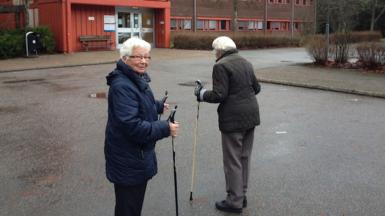 Britt Gustafsson och Elsie Johansson. Foto: Magdalena Brander/SR