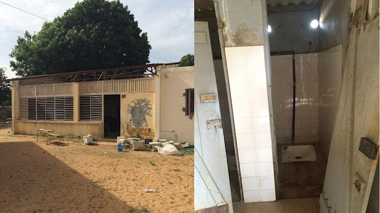 Skolan och dess toaletter i Dakar Foto: Fanny Soupraya