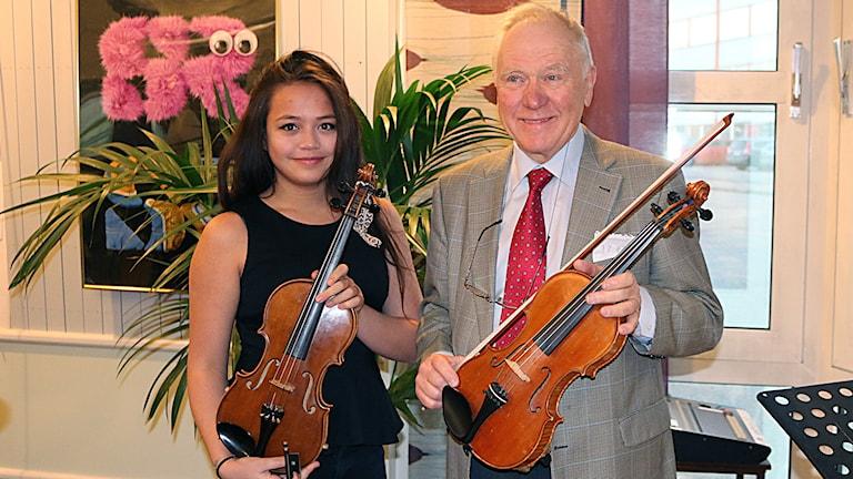 Julia Frölich och Reimar Westerlind Foto: Petra Svedjevik/SR