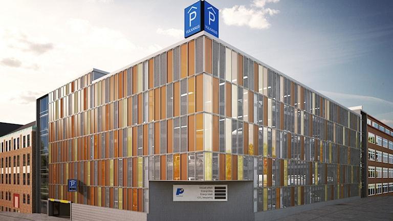 Det tilltänkta parkeringshuset i Borås. Bild: Parkeringsbolaget i Borås